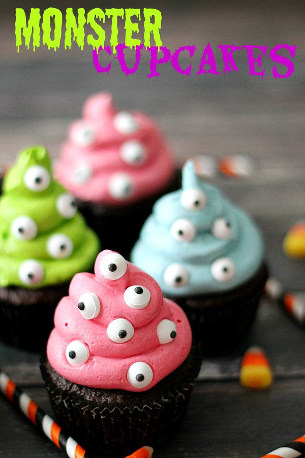 Adorable Monster Cupcakes