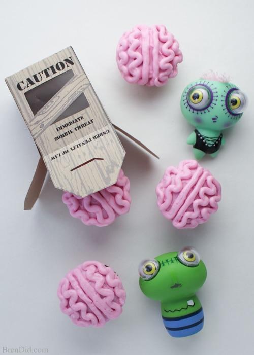Zombie Brains Cupcakes