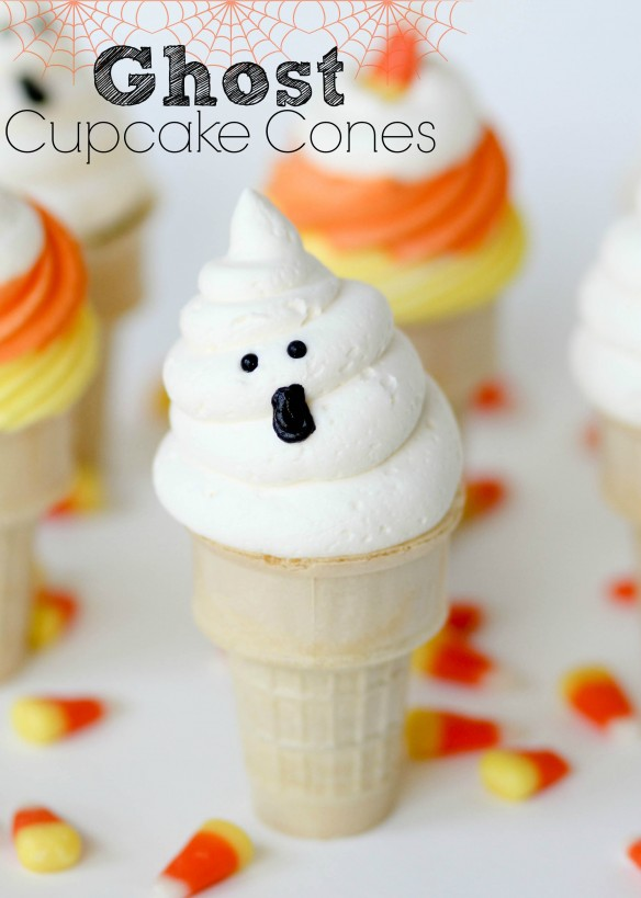 Ghost Cone Cupcakes