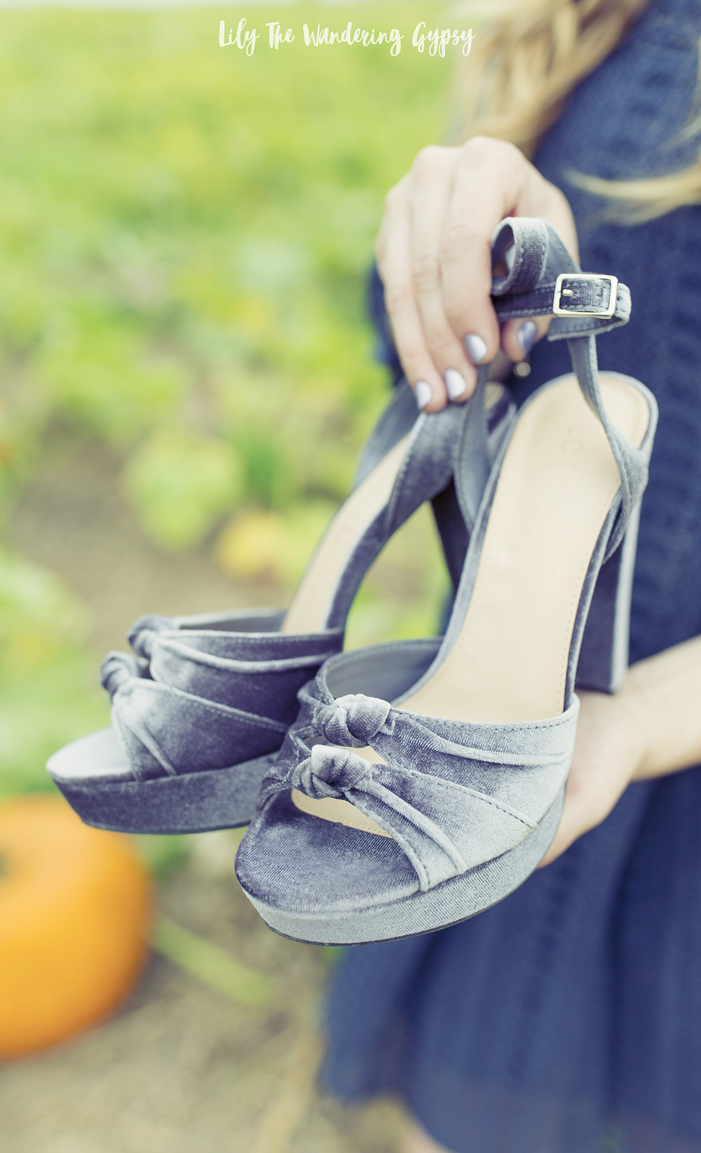 Lauren Conrad Velvet Heels