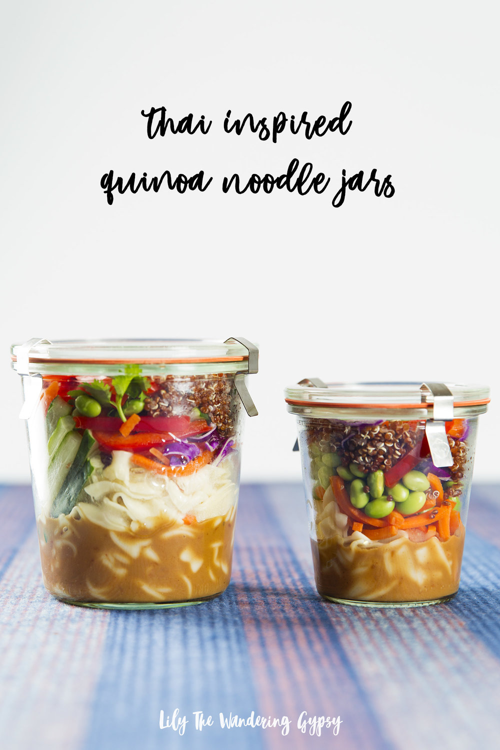 Thai-Inspired Vegetarian Quinoa Noodle Jars