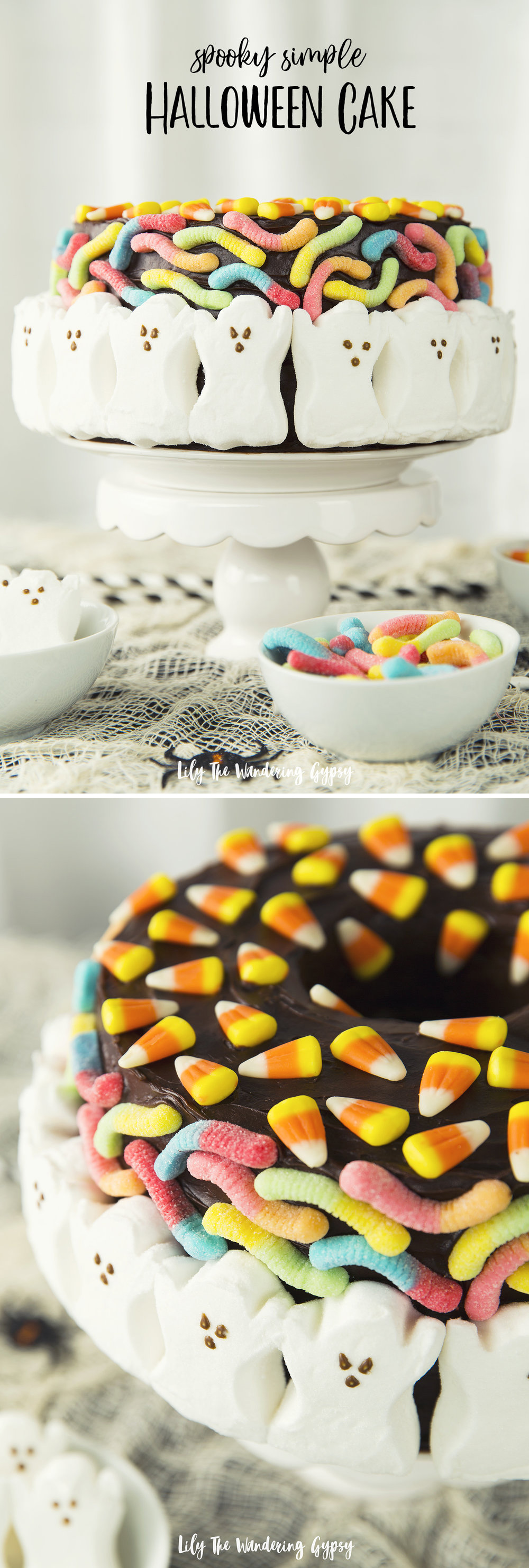 Halloween Ghost Cake - Spooky Easy!