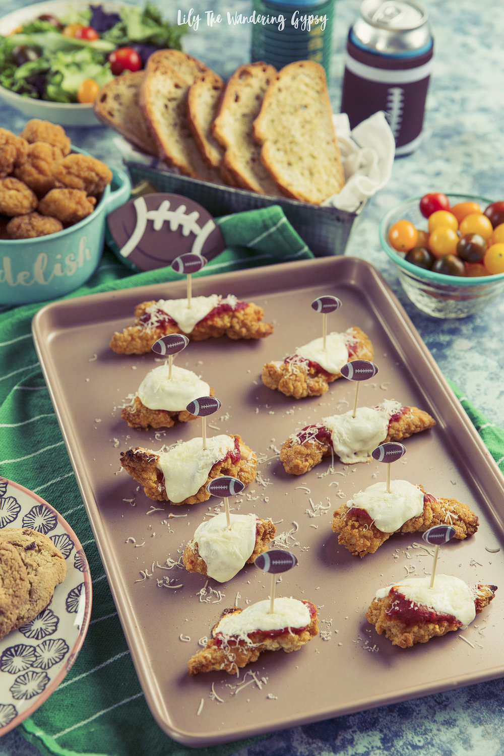 4 Ingredient Chicken Parmesan Bites + Tailgate Food Ideas