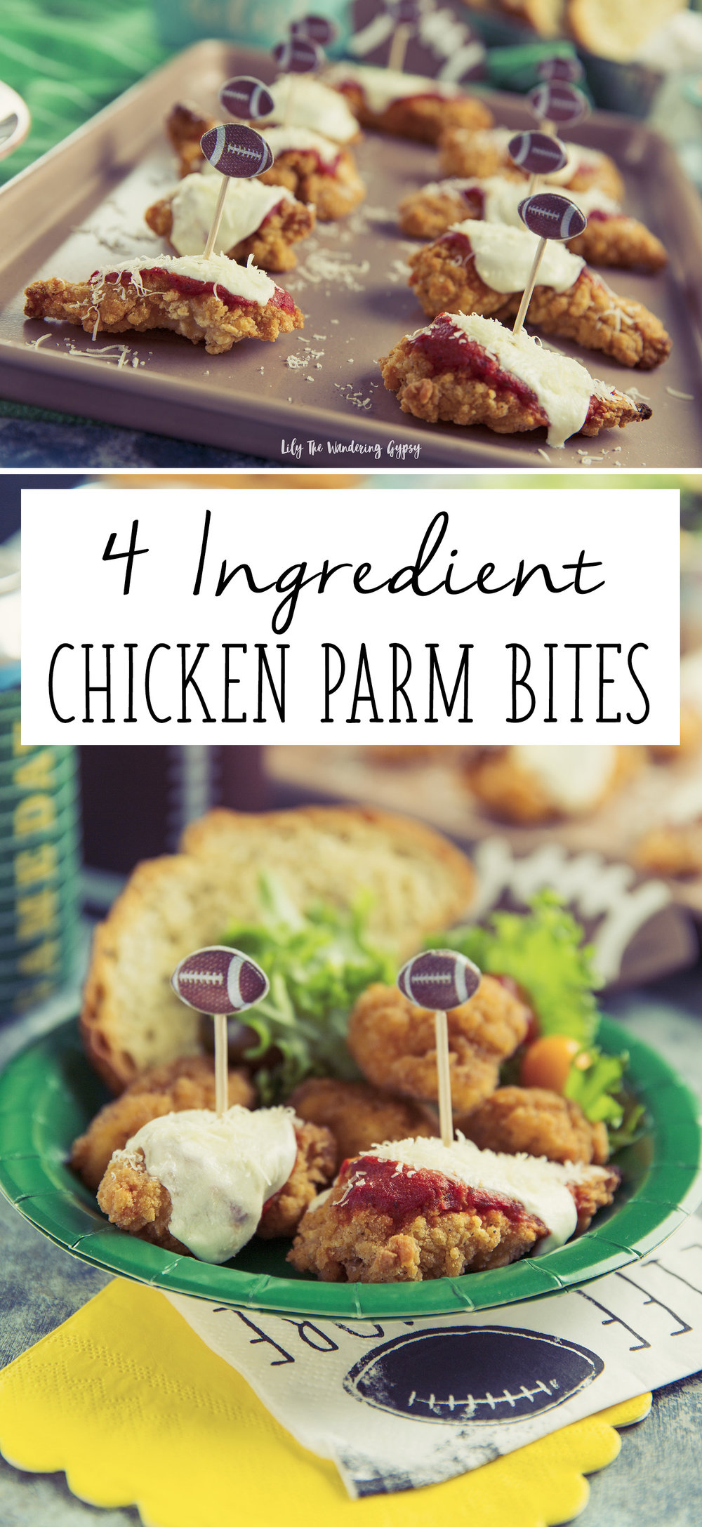 4 Ingredient Chicken Parmesan Bites