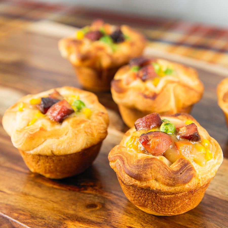 Mini Sausage + Veggie Pot Pies