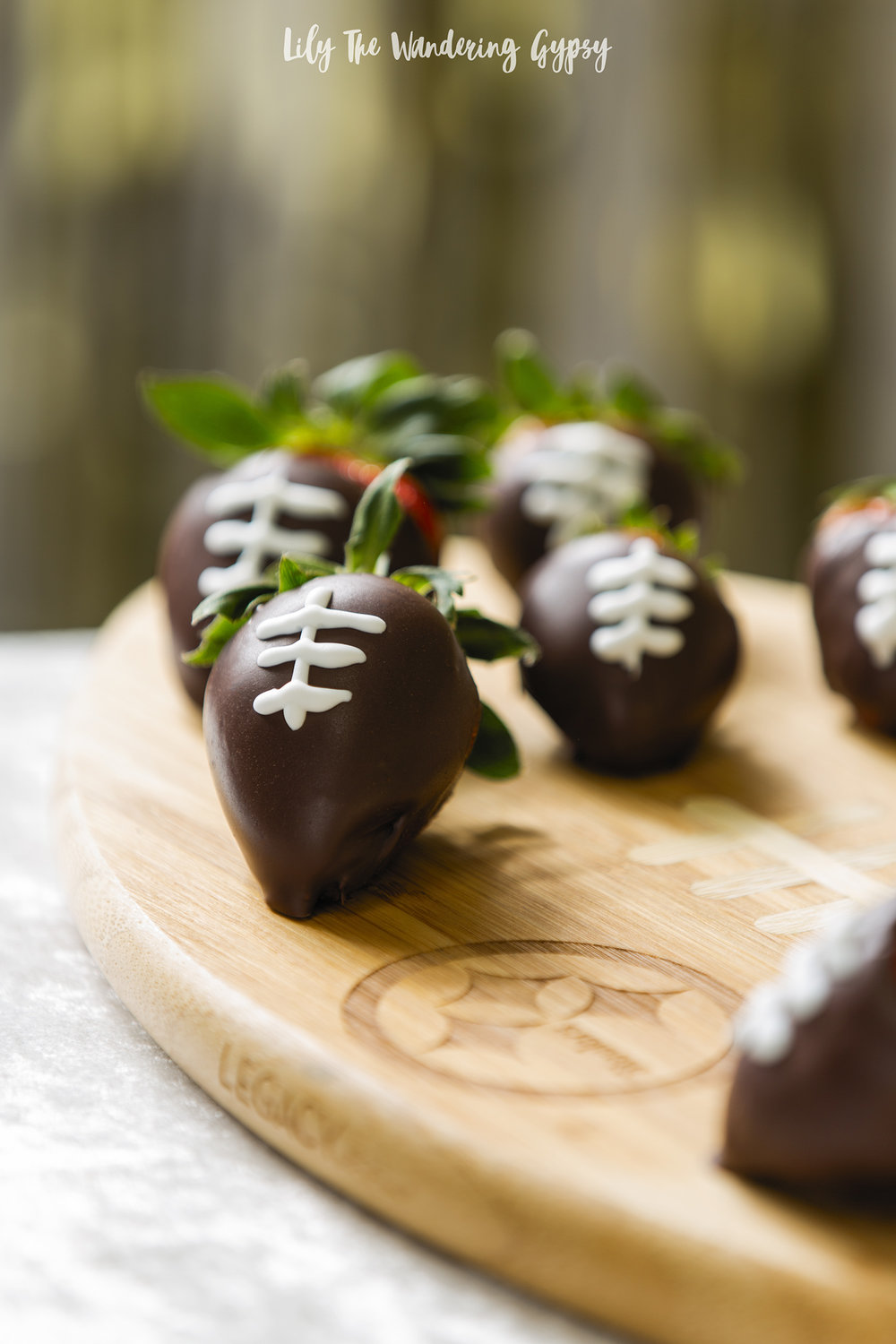 Upscale and Elegant Football Party (Football Themed Chocolate Dipped Strawberries)