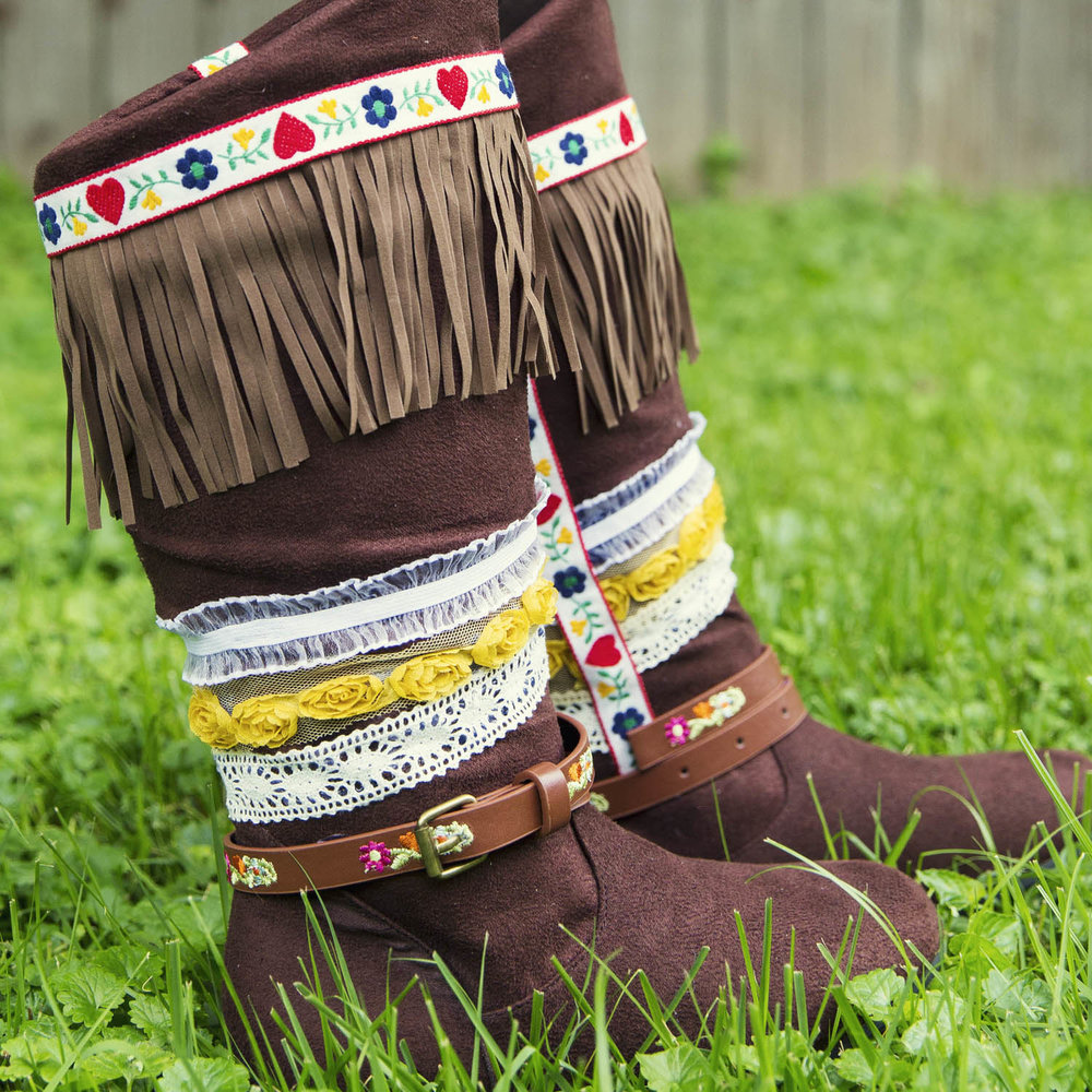How To Make Embellished Boho Fringe Festival Boots   Jun 3, 2015