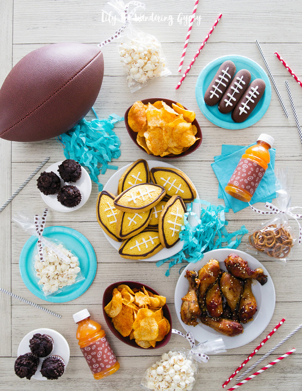 Football Party Decor and Food Ideas