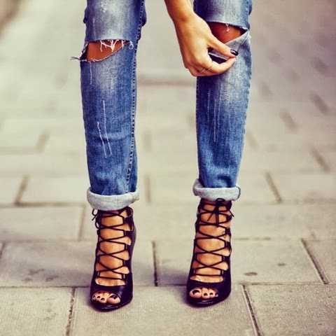 ripped denim trend