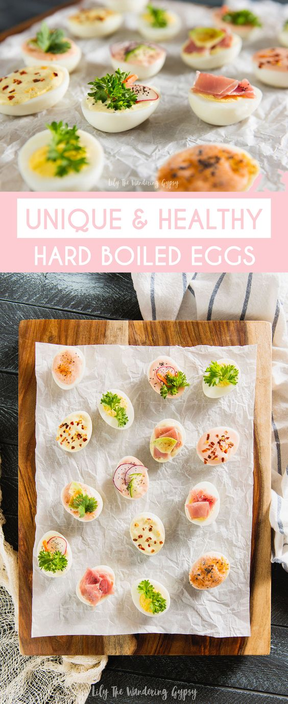 Healthier Appetizer and Snack Ideas with Hard Boiled Eggs