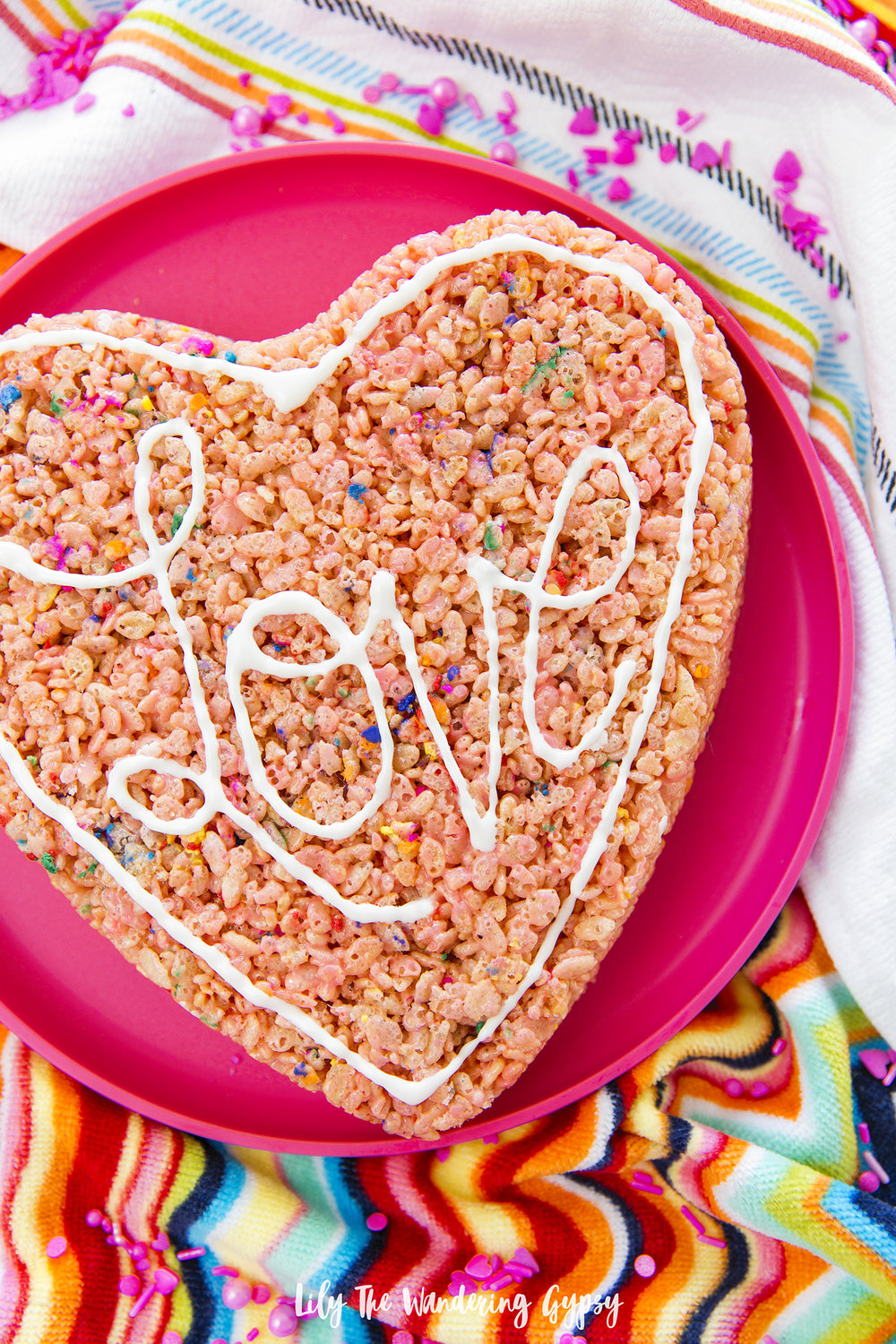 Giant Heart Shaped Rice Krispy Treat