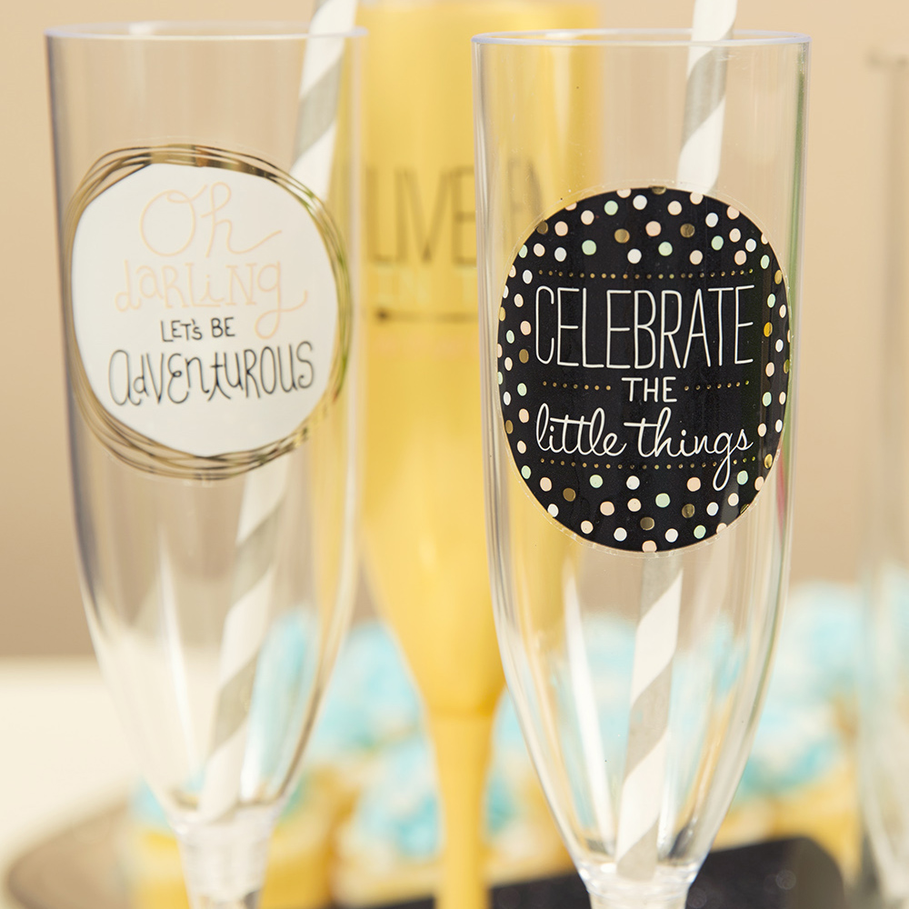 DIY Easy Custom Champagne Glasses