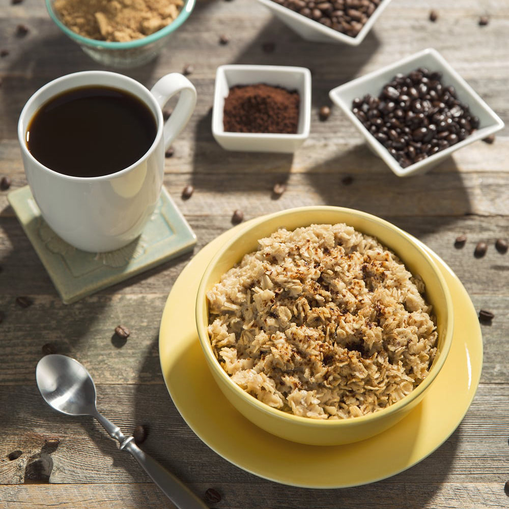 coffee infused oatmeal