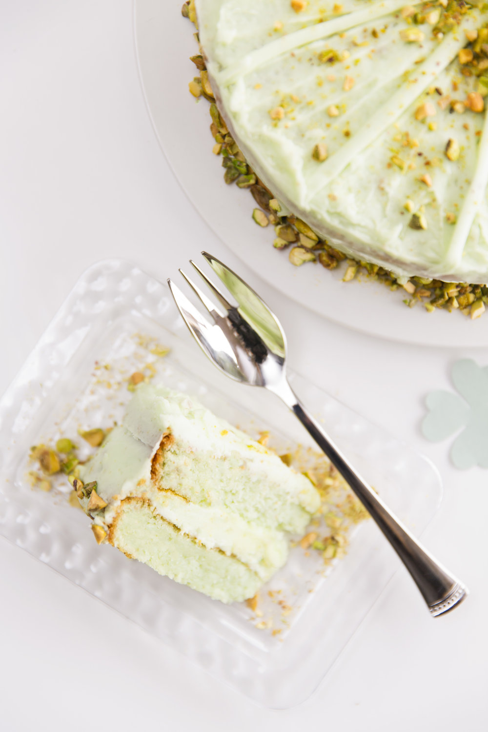 5 Ingredient Super Moist Pistachio 7UP Layer Cake with Pistachio Frosting Recipe