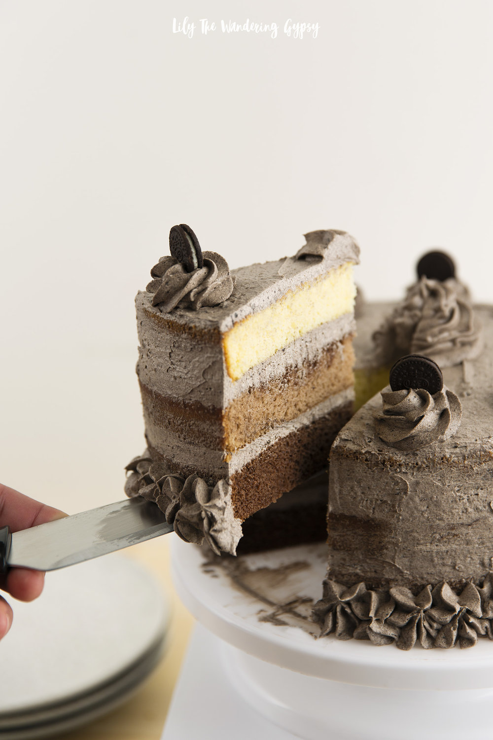 Ombre Oreo Layer Cake Recipe