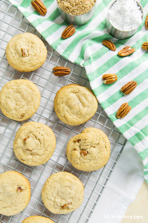 Soft Batch Iced Pecan Cookies Recipe