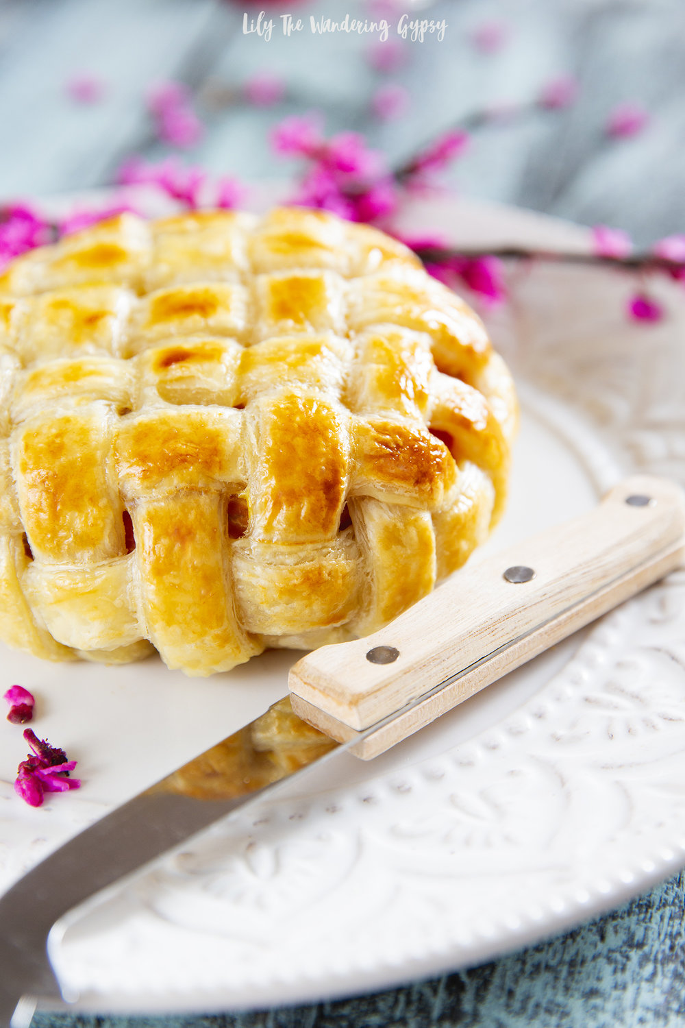 Lattice Weave Puff Pastry Wrapped Prosciutto + Brie Recipe