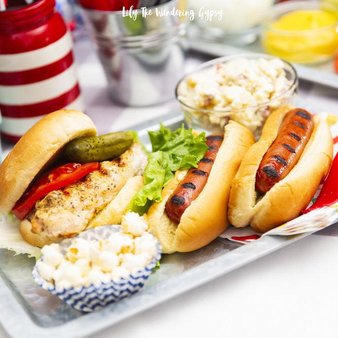 BBQ Ideas with Ballpark Franks and Lipton Iced Tea!