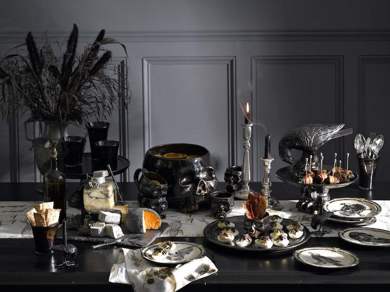 Dark Halloween Tablescape