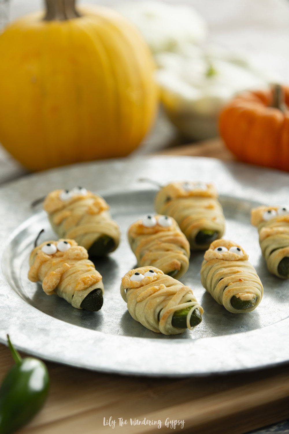 Mummy Wrapped Jalapeno Poppers