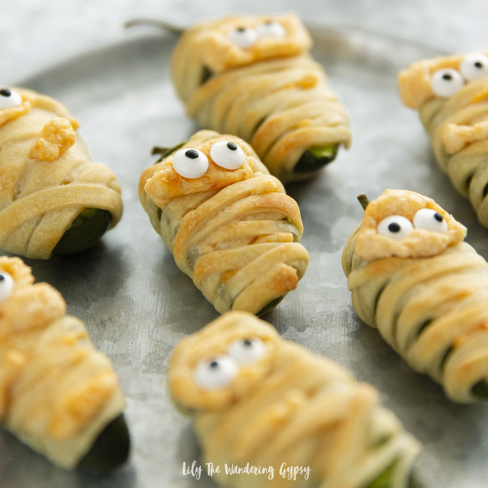 Mummy Wrapped Jalapeño Poppers