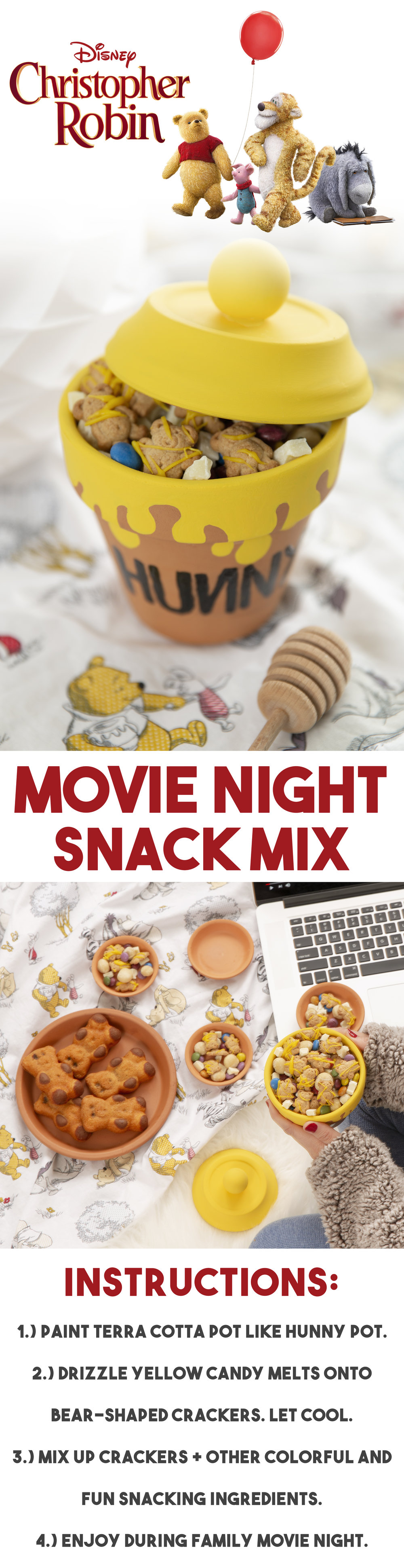 Winnie The Pooh Snack Mix Recipe for Movie Night