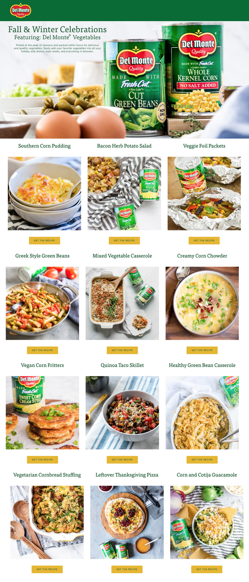 Recipe Ideas with Del Monte
