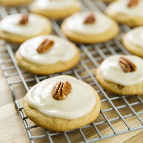 Soft Iced Pecan Cookies