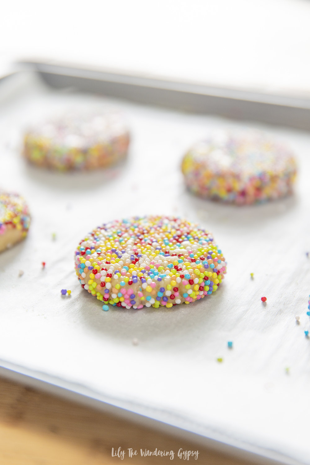 Crispy Sprinkle Cookies Recipe