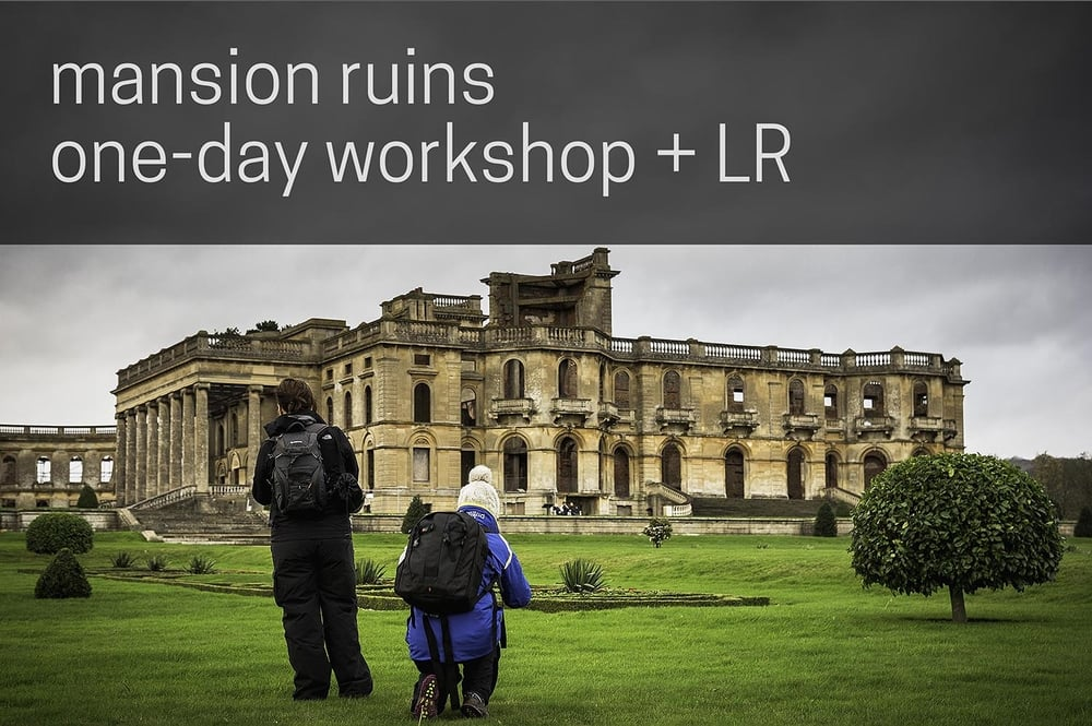 Workshop participants at Witley Court Mansion Ruins photography workshop by Nathan Barry the Image Project
