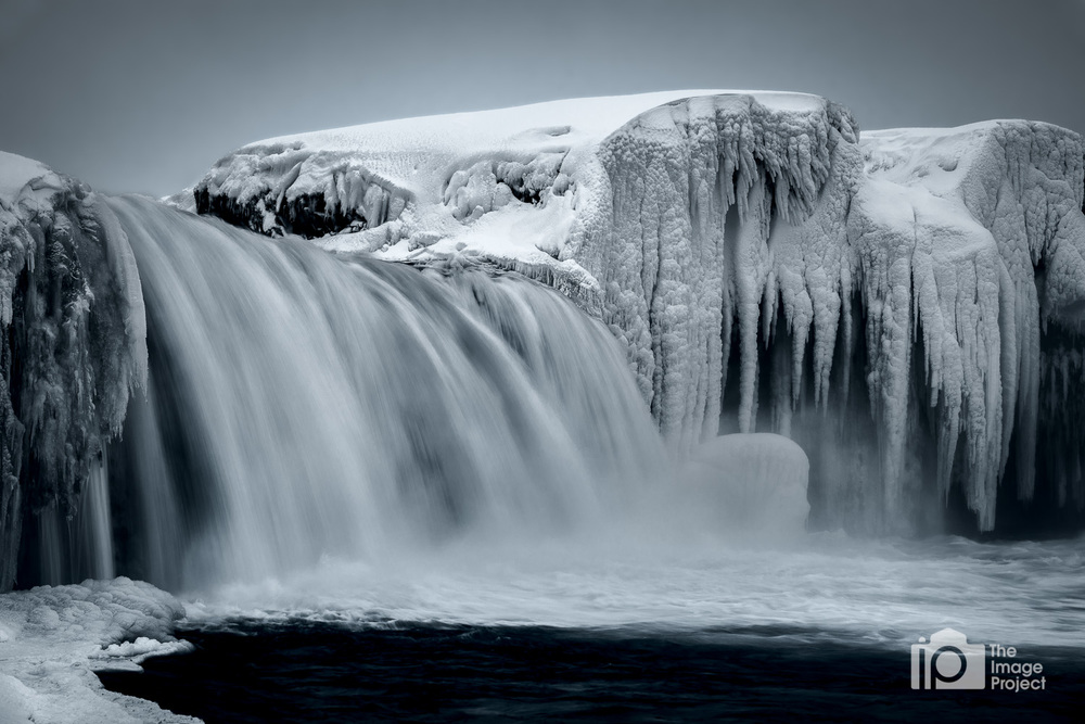 Godafoss waterfall in winter iceland nathan barry the image project with icicles
