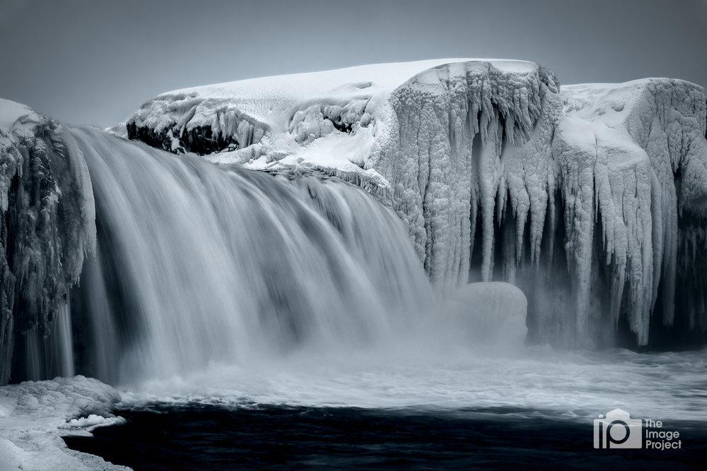 Godafoss on Frozen Morning, Iceland
