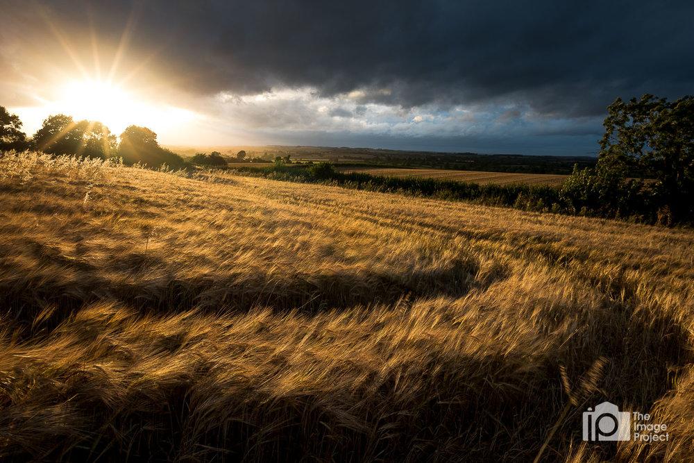 Flash of sunset, Warwickshire