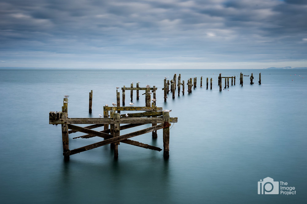 Long exposure of Swanage Old Pier, Dorset