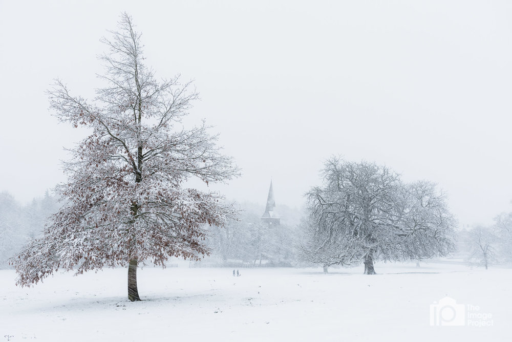 Broughton church in snow