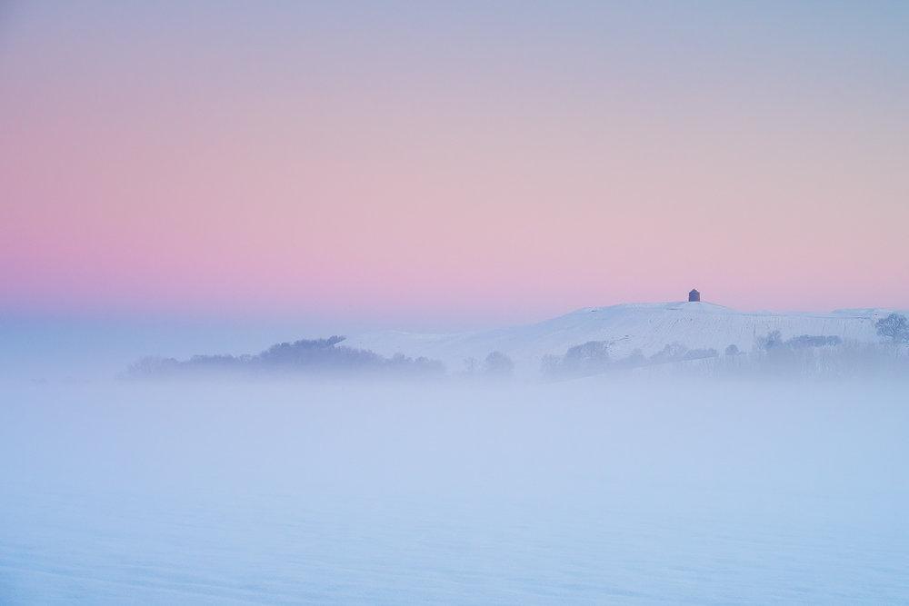 Burton Dassett in freezing fog