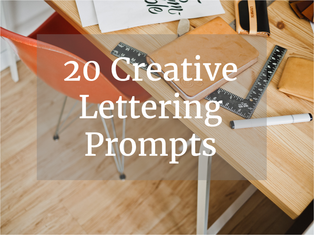 20CreativeLetteringPrompts
