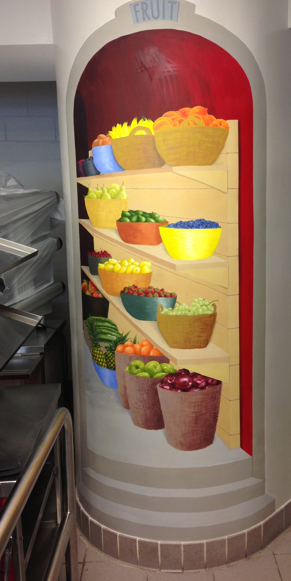 Fruit Closet from BRMS Cafeteria Mural