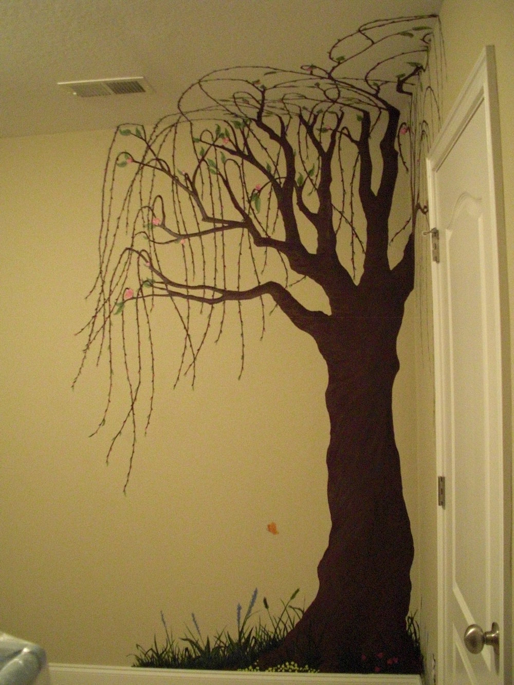 nursery mural- Willow Tree