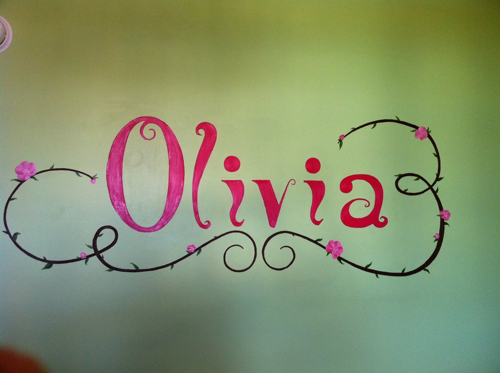 name mural for nursery