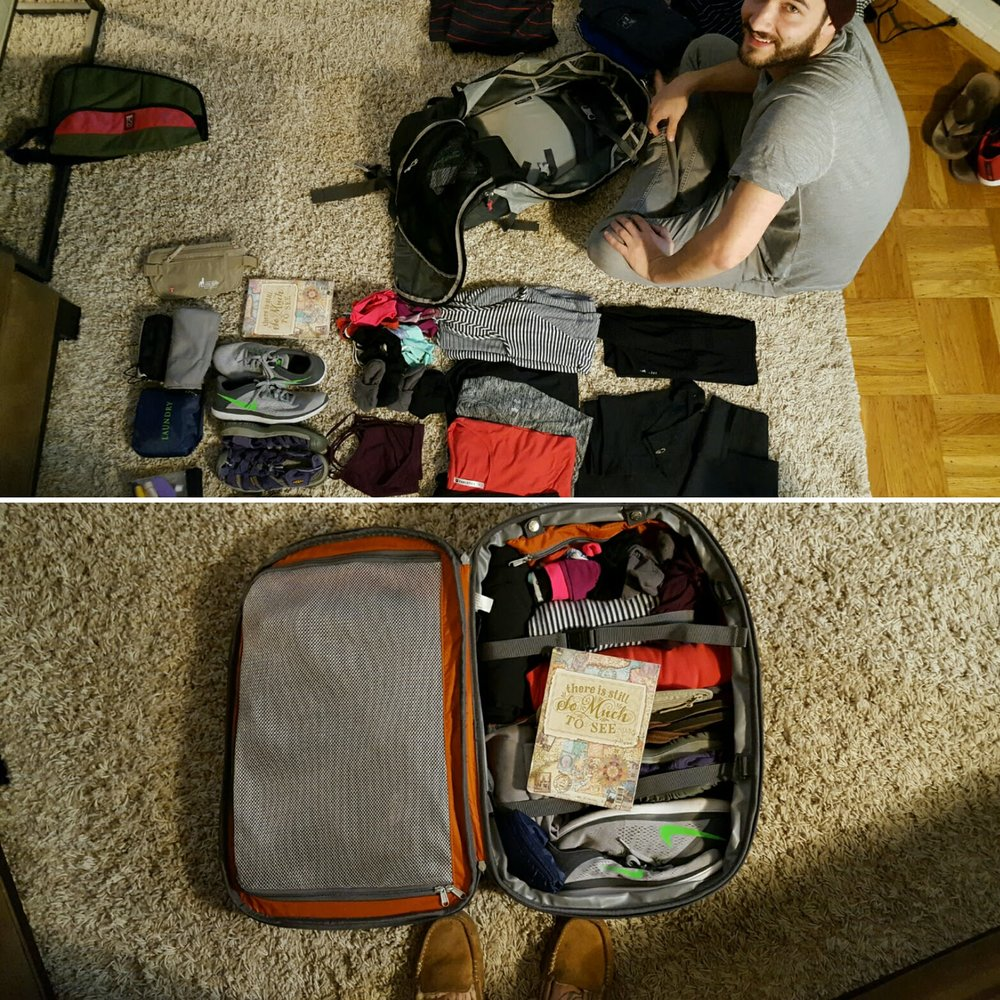 Practice run for packing.