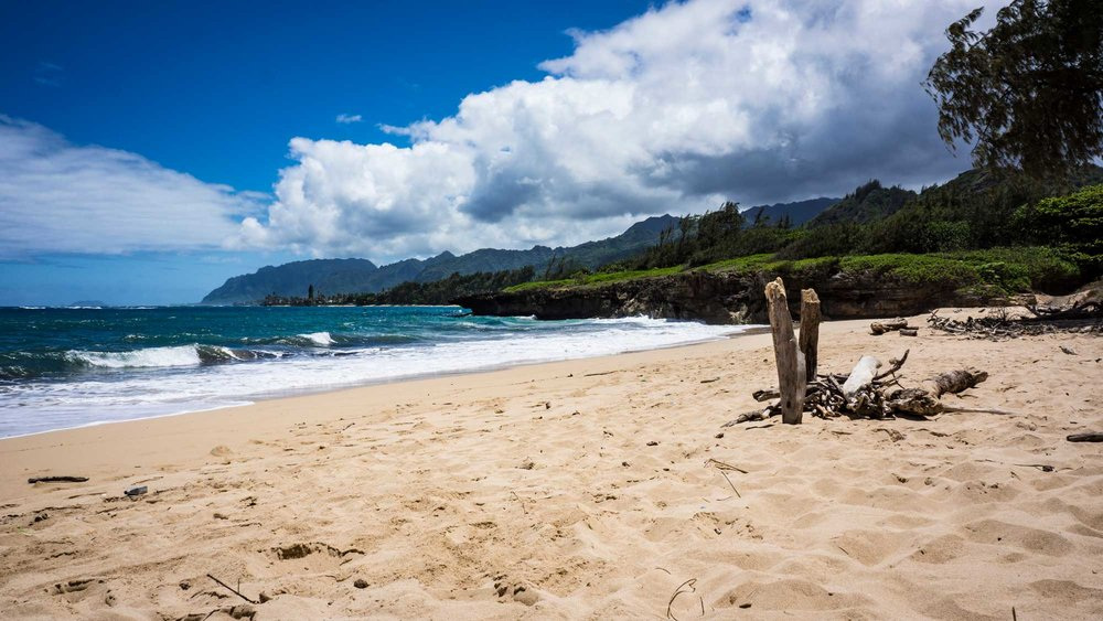 Hau'ula Beach, where we spent the majority of our 6th day.