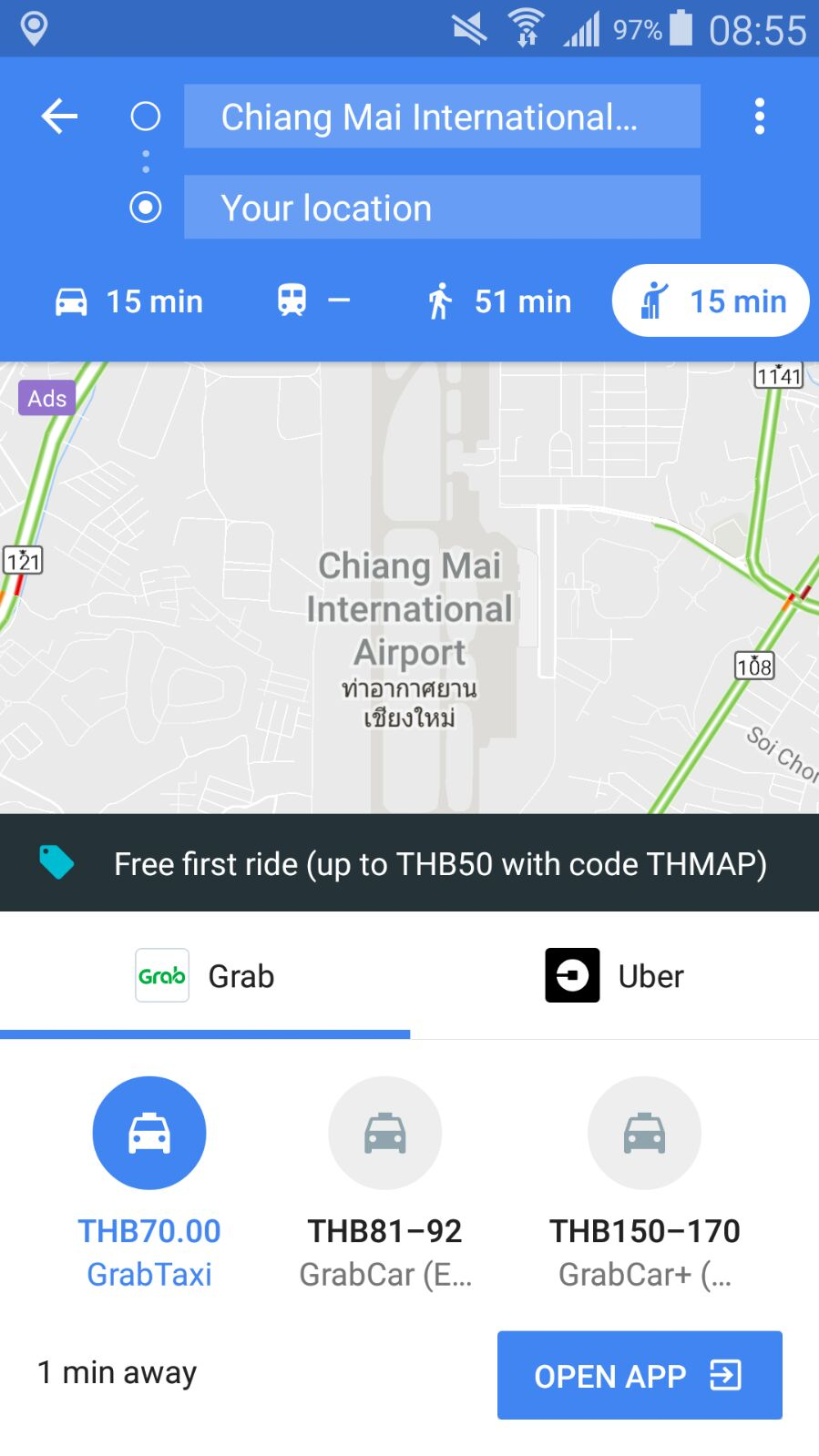 Google Maps has a Taxi/Ride share view where you can see an estimated price for the ride. Look for the icon of the person with their arm up, like they're hailing a taxi.