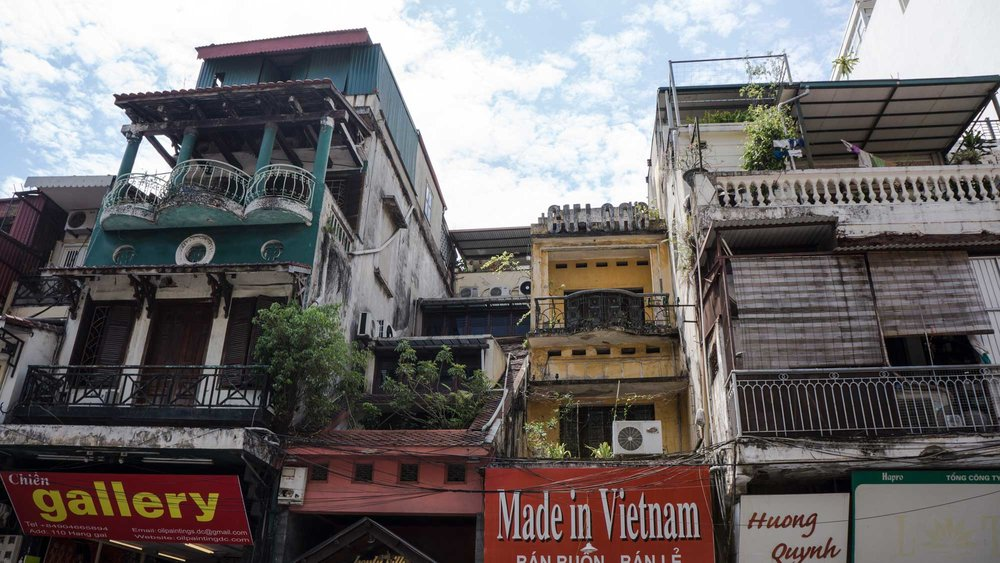 Hanoi, displaying it's past French colonization in a shabby-chic kind of way.