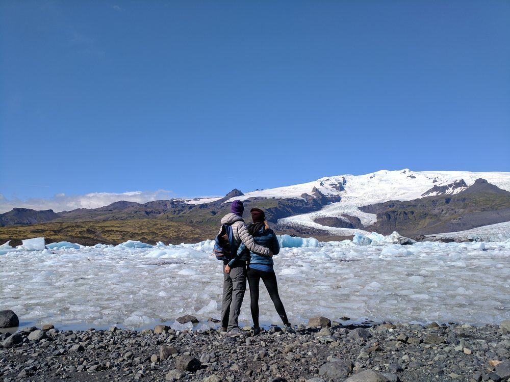 Could not get enough of this glacier. Or camping. Or Iceland.