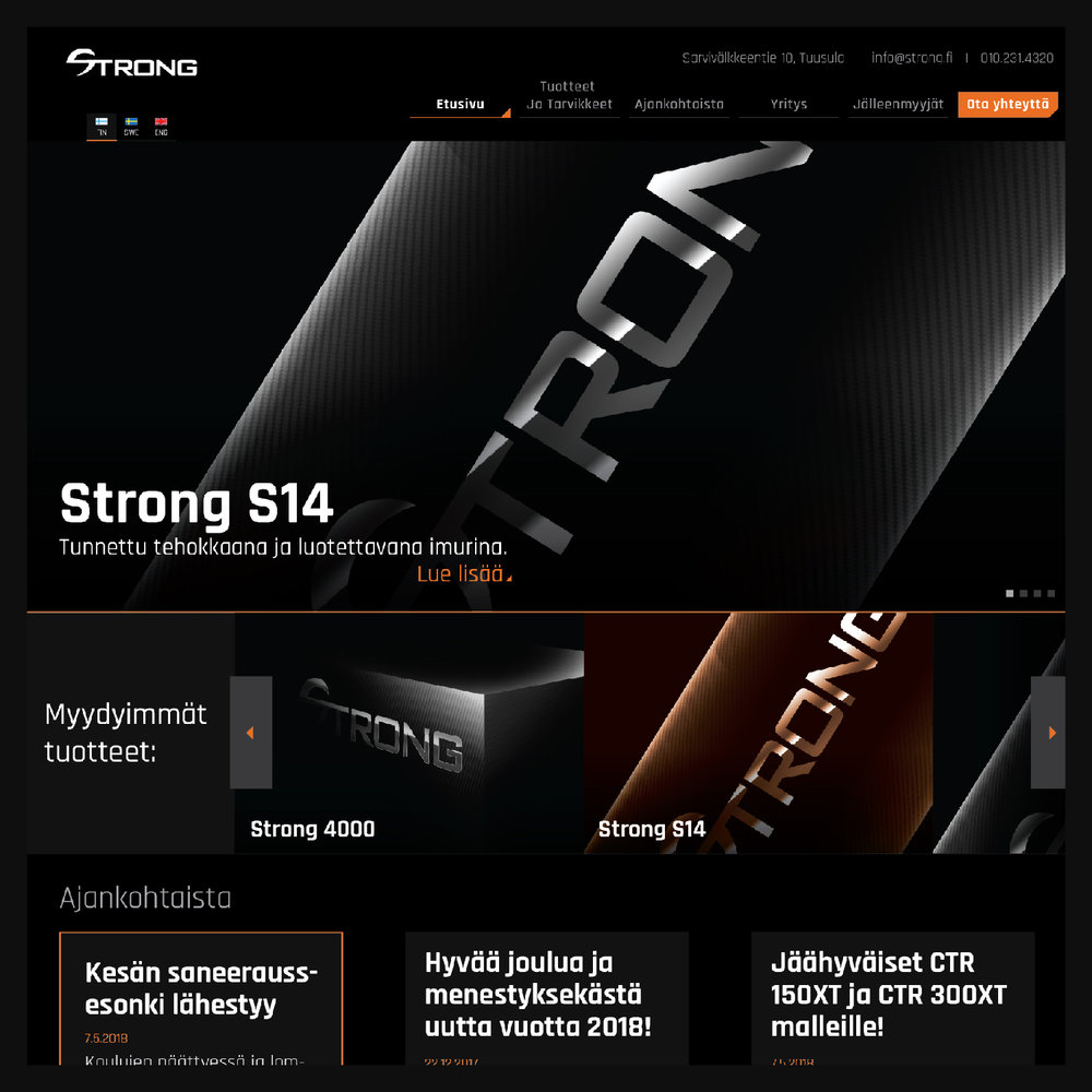 Strong Finnish Website Concept