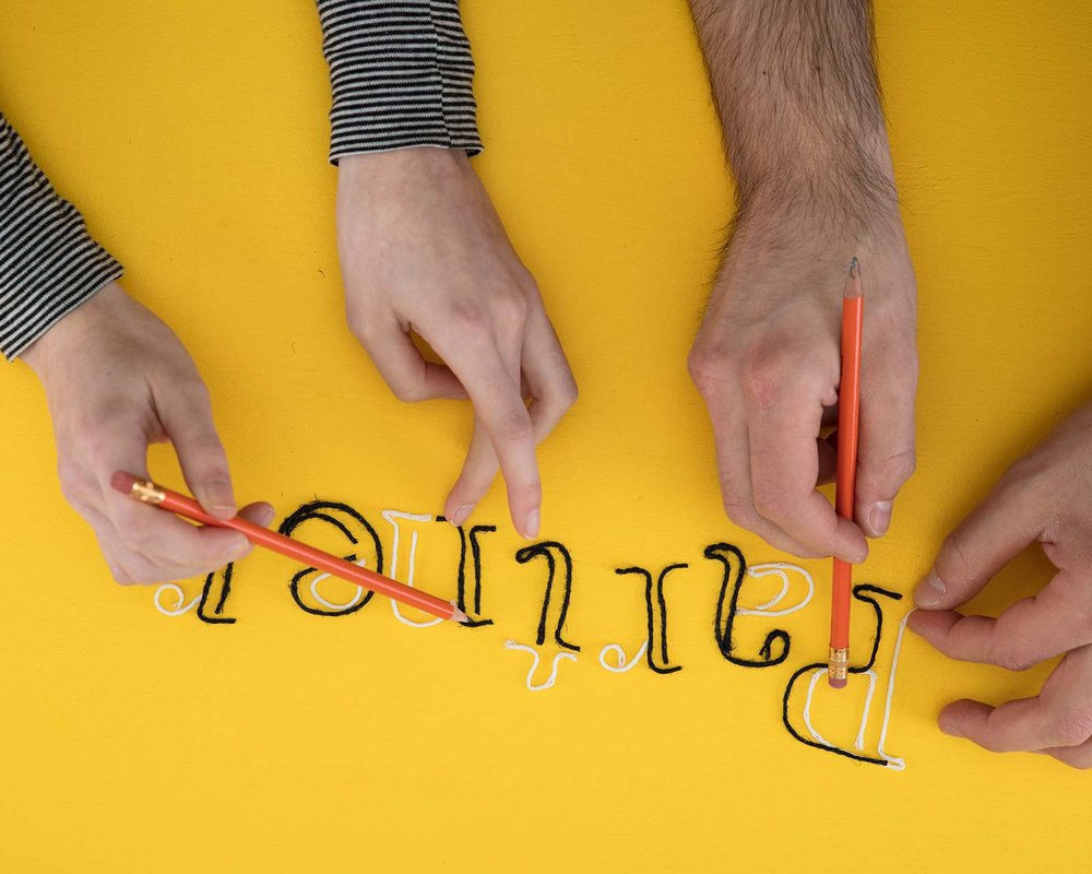 Stop motion photography animating letters