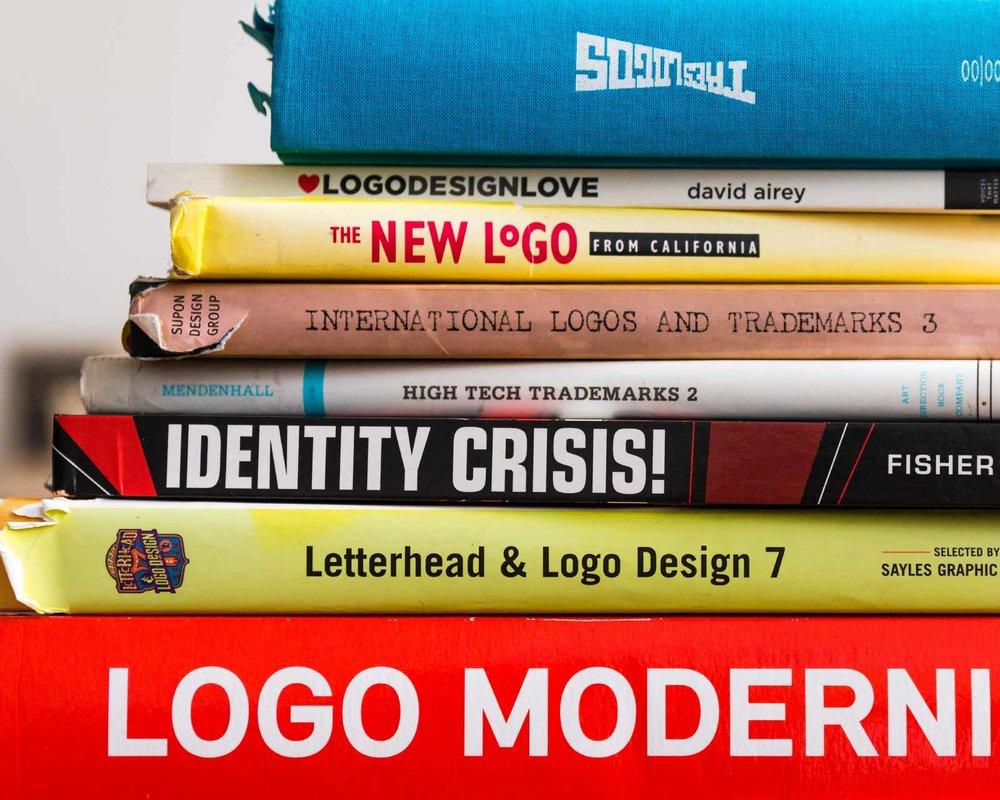 Logo design and brand identity books
