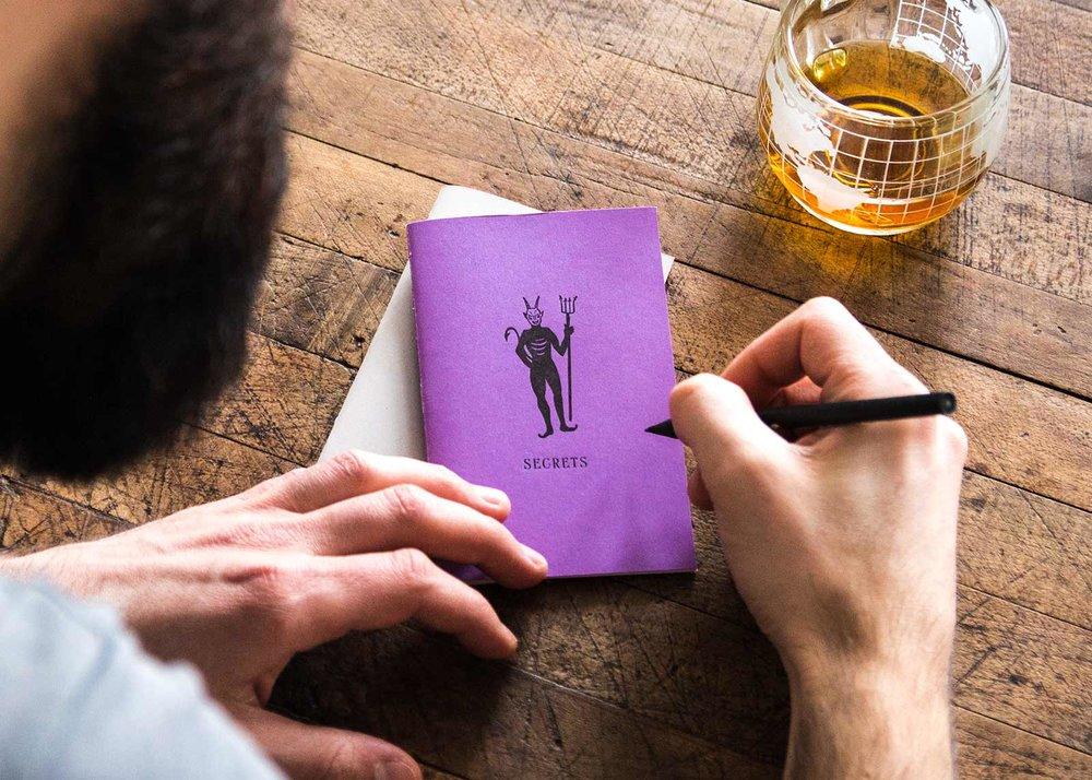Secrets handmade letterpress journal