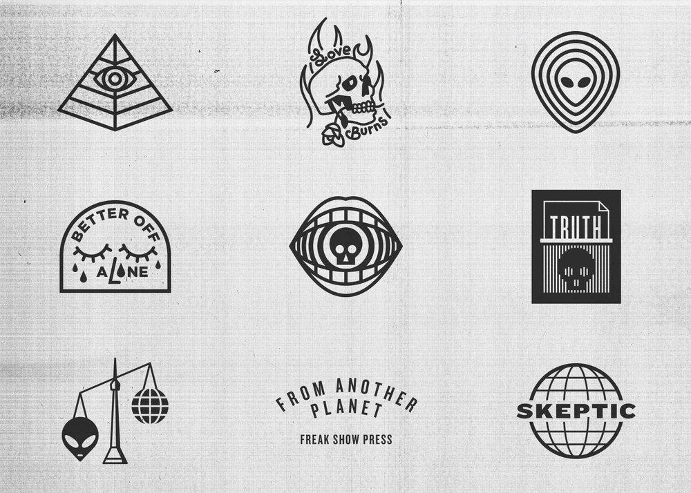 Freak Show Press vector logos and marks